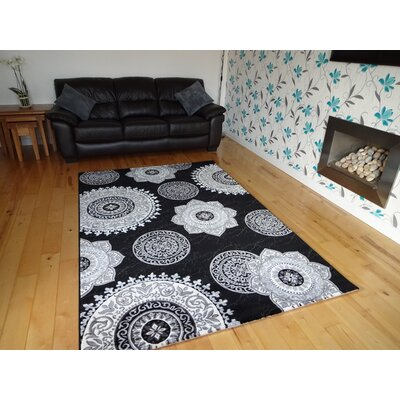 GP Rugs Aura 770 Black Area Rug