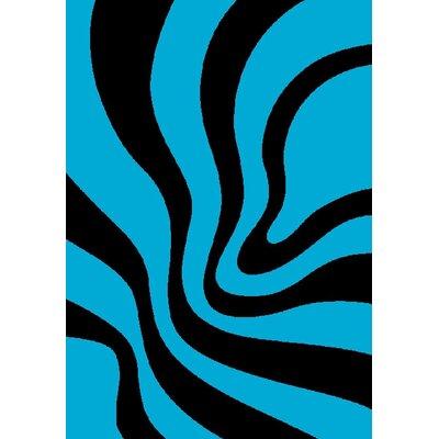 GP Rugs Havanna Blue/Black Area Rug