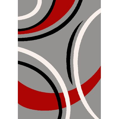 GP Rugs Havanna Silver/Red Area Rug