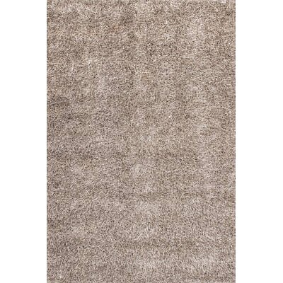 GP Rugs Flamenco Hand-Woven Silver Area Rug