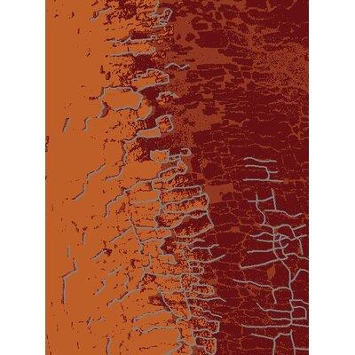 GP Rugs Contempo Red/Orange Area Rug