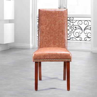 Traditional Waxed Texture Nail Head Parsons Chair