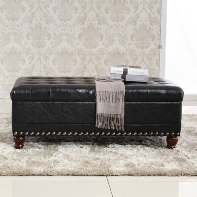 Elegant Classic Tufted Wood Storage Bench