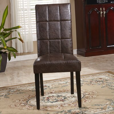 Classic Waxed Texture Parsons Chair