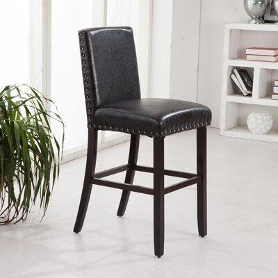 "Luxury 29"" Bar Stool Upholstery: Black"