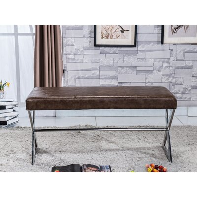 Upholstered Bench Upholstery Color: Brown