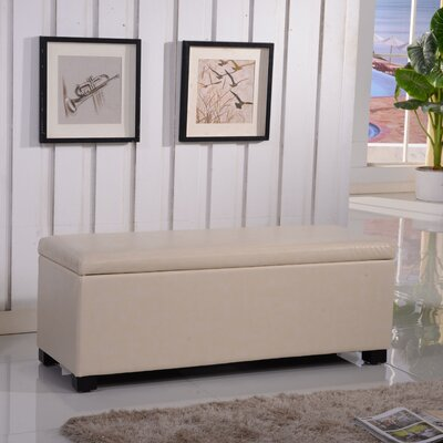 Classic Leather Storage Bench