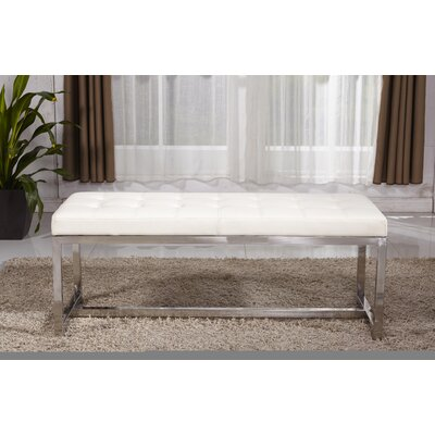 Upholstered Bench Upholstery Color: White