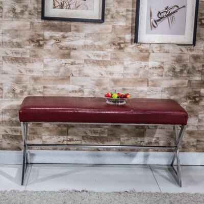 Upholstered Bench Upholstery Color: Red