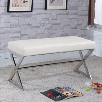 Upholstered Bench Upholstery Color: Creamy White