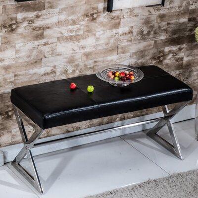 Upholstered Bench Upholstery Color: Black