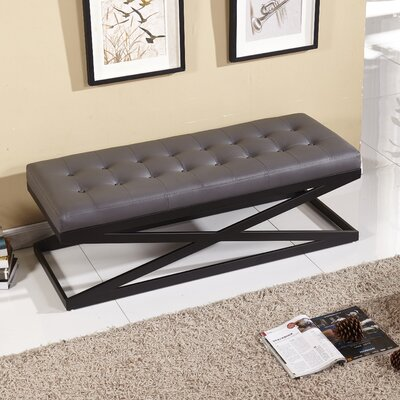 Classic Upholstered Bench Upholstery Color: Gray