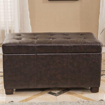Upholstered Storage Bench Upholstery Color: Dark Brown