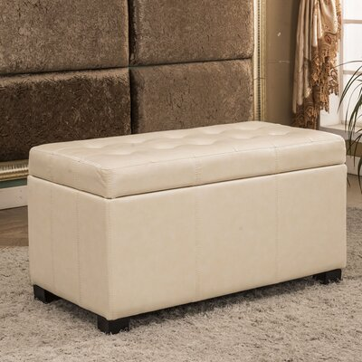 Upholstered Storage Bench Upholstery Color: Creamy White