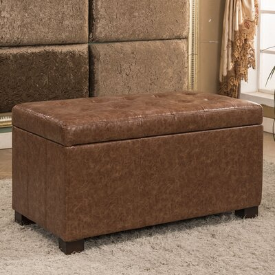 Upholstered Storage Bench Upholstery Color: Espresso Brown