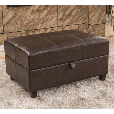 Royal Comfort Upholstered Storage Bench Upholstery Color: Dark Brown