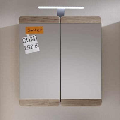 Bel Étage 65 cm x 70 cm Spiegelschrank Style