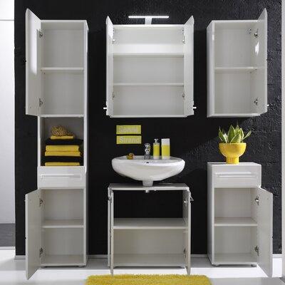 Bel Étage 5-tlg. Badezimmer-Set Sleek