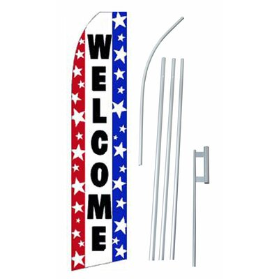 Welcome Swooper Flag and Flagpole Set
