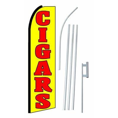 Cigars Swooper Flag and Flagpole Set