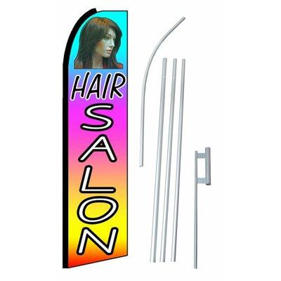 Hair Salon Swooper Flag and Flagpole Set