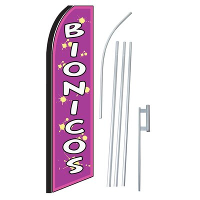 Bionicos Swooper Flag and Flagpole Set