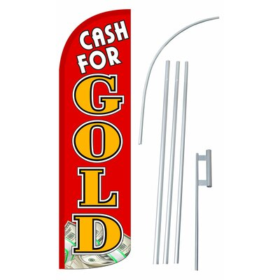 Cash For Gold Swooper Flag and Flagpole Set