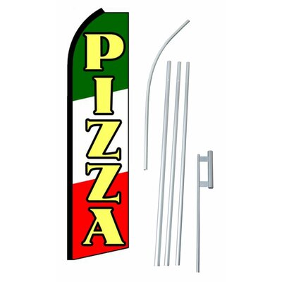 Pizza Swooper Flag and Flagpole Set