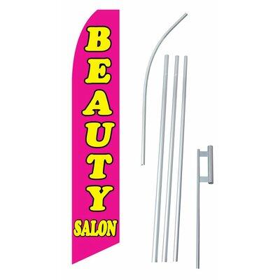 Beauty Salon Swooper Flag and Flagpole Set
