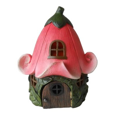 American garden decor - Fairy Lily Flower Roof Garden House - Hi-Line Gift Ltd. Garden Statues and Outdoor Accents