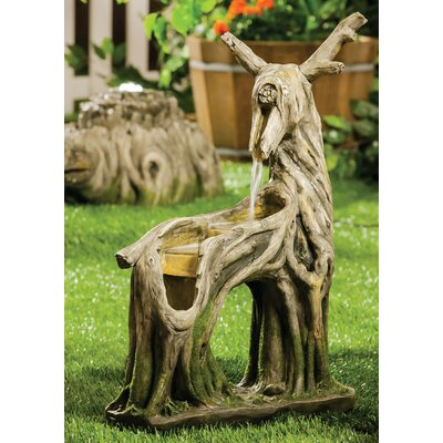 Polyresin Deer Stump Carving Fountain