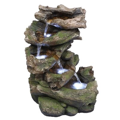 Polyresin Multi Level Branch Fountain with LED Light