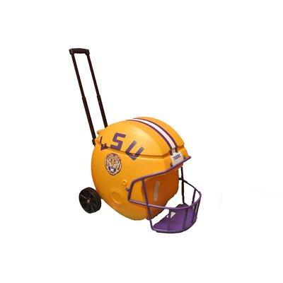 40 Qt. Football Helmet Ice Chest Rolling Cooler NCAA Team: LSU (Gold)