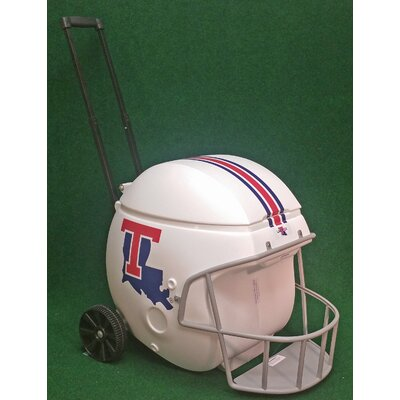 40 Qt. Football Helmet Ice Chest Rolling Cooler NCAA Team: LaTech