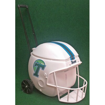 40 Qt. Football Helmet Ice Chest Rolling Cooler NCAA Team: Tulane