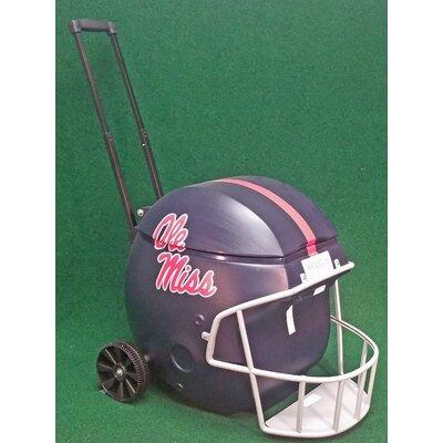 40 Qt. Football Helmet Ice Chest Rolling Cooler NCAA Team: Ole Miss