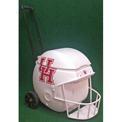 40 Qt. Football Helmet Ice Chest Rolling Cooler NCAA Team: Houston
