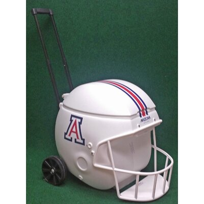 40 Qt. Football Helmet Ice Chest Rolling Cooler NCAA Team: Arizona