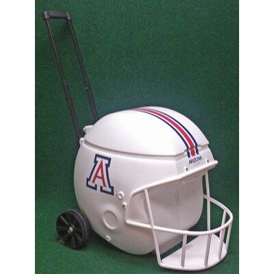 40 Qt. Football Helmet Ice Chest Rolling Cooler NCAA Team: Arizona