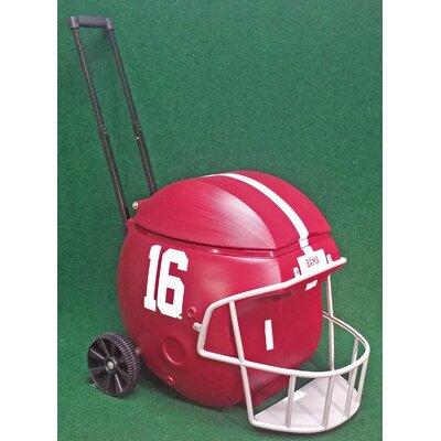 40 Qt. Football Helmet Ice Chest Rolling Cooler NCAA Team: Alabama