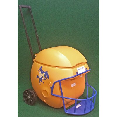 40 Qt. Football Helmet Ice Chest Rolling Cooler NCAA Team: McNeese