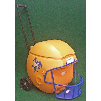 40 Qt. Football Helmet Ice Chest Rolling Cooler NCAA Team: McNeese