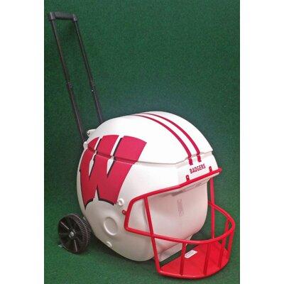 40 Qt. Football Helmet Ice Chest Rolling Cooler NCAA Team: Wisconsin