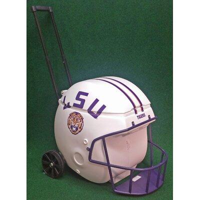 40 Qt. Football Helmet Ice Chest Rolling Cooler NCAA Team: LSU (White)