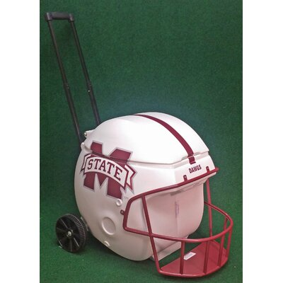 40 Qt. Football Helmet Ice Chest Rolling Cooler NCAA Team: Mississippi State