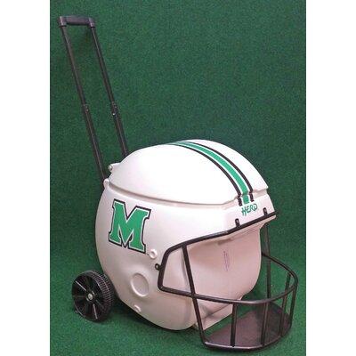 40 Qt. Marshall Thundering Herd Football Helmet Rolling Cooler