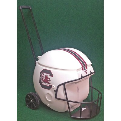 40 Qt. South Carolina White Football Helmet Rolling Cooler