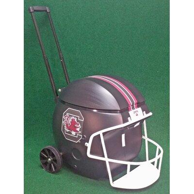 40 Qt. South Caolina Black Football Helmet Rolling Cooler