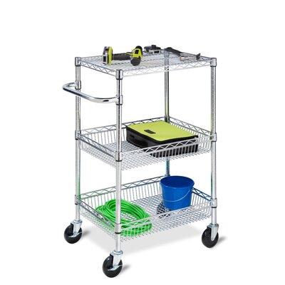 HoneyCanDo 3-Tier Urban Utility Cart with 3 Shelves