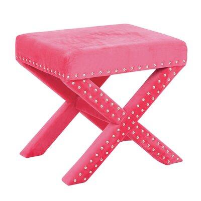Katie Stool Color: Pink Micro Velvet